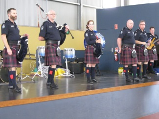 Queensland Pipes & Drums Band at MRSS